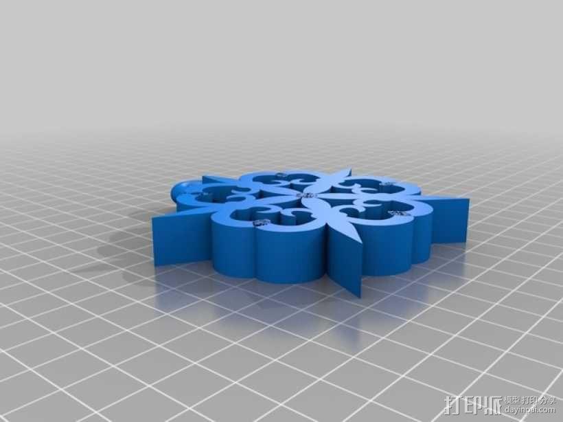 鸢尾雪花 3D模型  图2