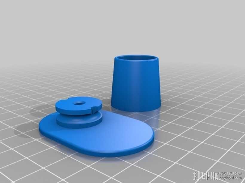衣柜衣杆支架 3D模型  图2