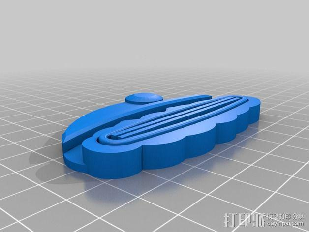 圣诞老人牙膏挤出装置 3D模型  图1