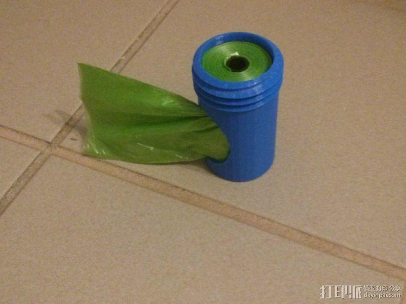 便携式宠物袋分发器 3D模型  图4
