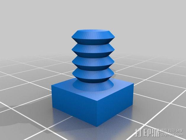 6毫米ID软管塞 3D模型  图2