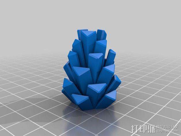 松果 装饰品 3D模型  图2