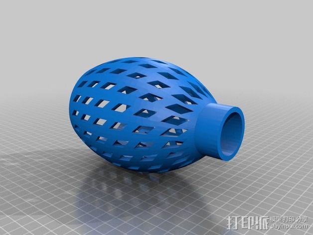 圆罩壁灯 3D模型  图3