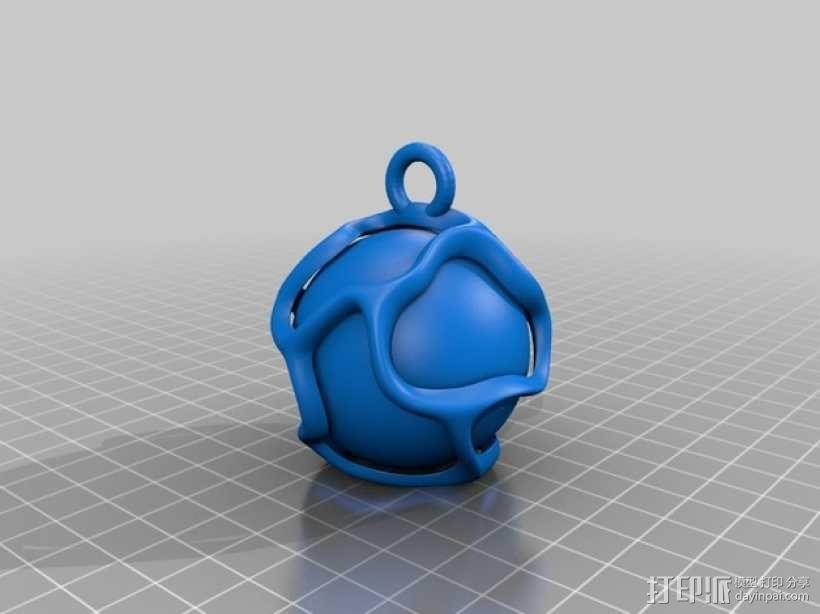 小球 葡萄藤 装饰品 3D模型  图2