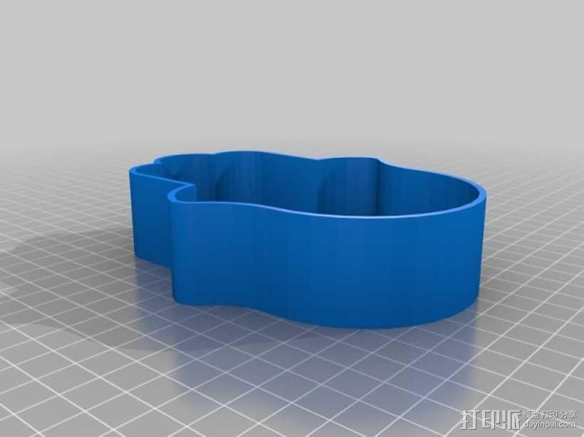 幸运之手 饼干制作模具 3D模型  图1