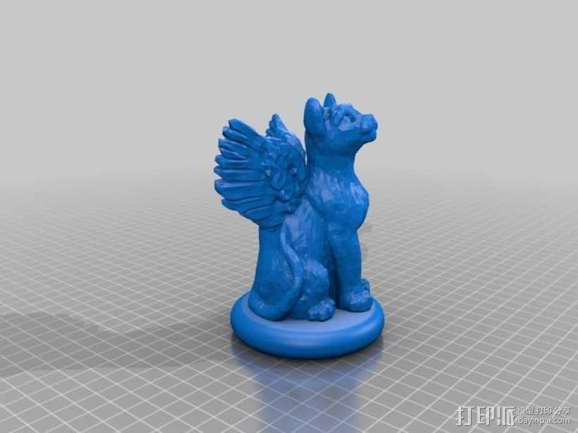 小猫圣诞树树顶装饰品 3D模型  图1