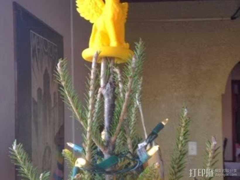 小猫圣诞树树顶装饰品 3D模型  图4