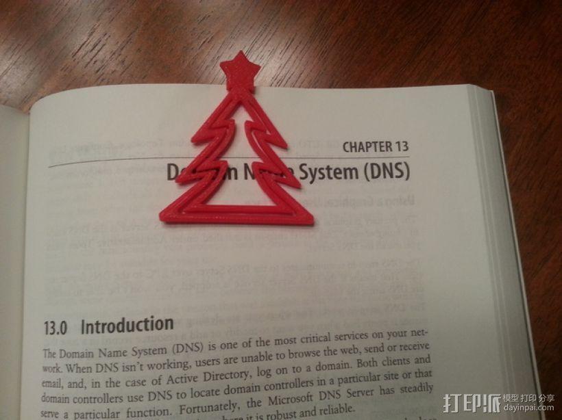 圣诞树形书签 3D模型  图1
