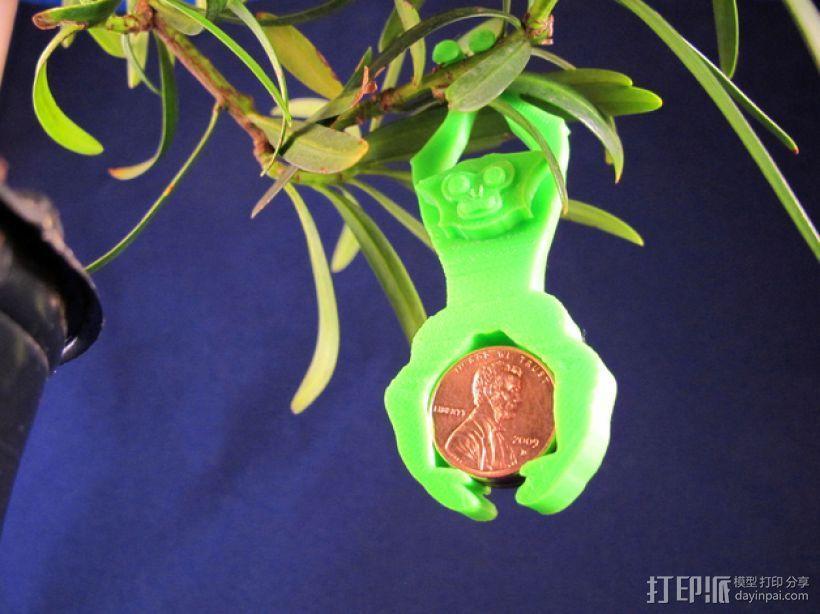 长臂猿挂饰 3D模型  图1