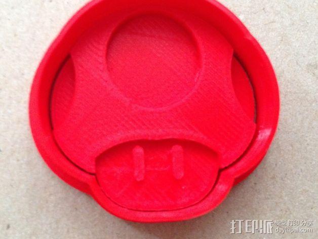 超级玛丽蘑菇人饼干型固定器 3D模型  图4
