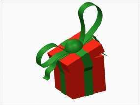 圣诞节礼物盒 3D模型