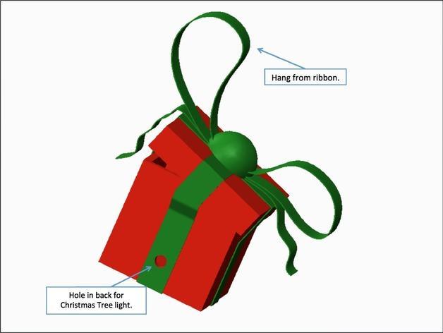 圣诞节礼物盒 3D模型  图3