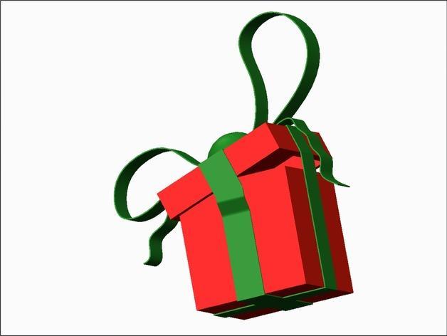 圣诞节礼物盒 3D模型  图2