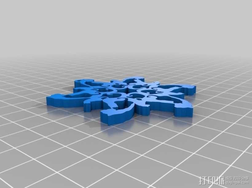雪花 装饰品 3D模型  图2