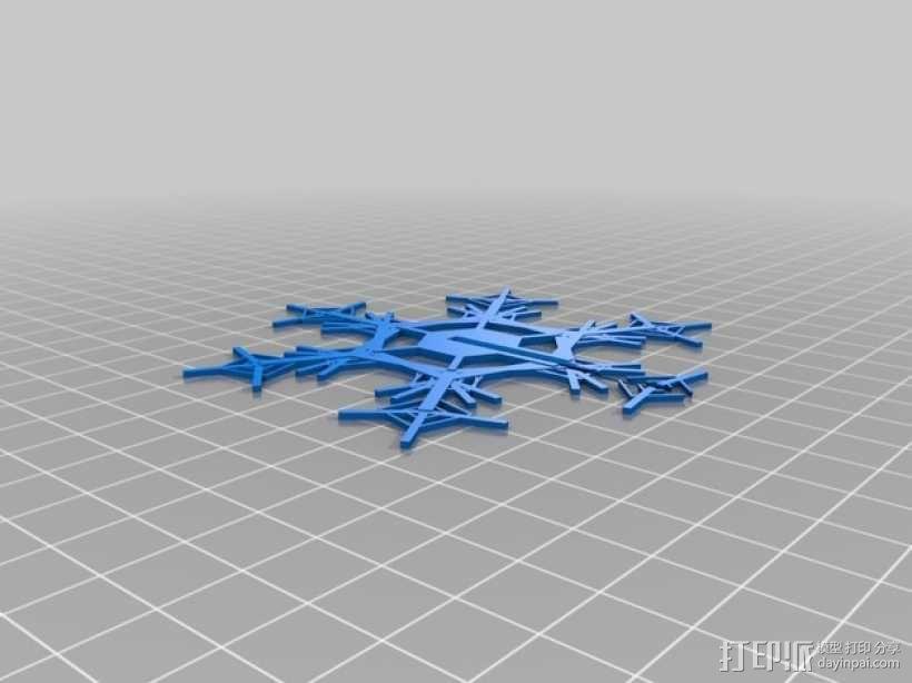 3D立体雪花 装饰品 3D模型  图2