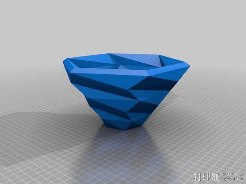 六边形螺旋碗 3D模型  图2