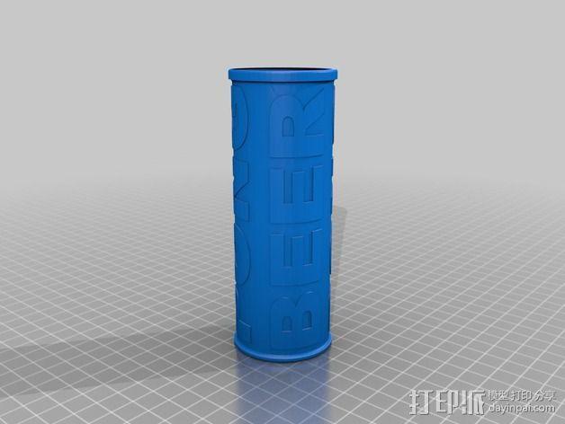 乒乓球收纳盒 3D模型  图3