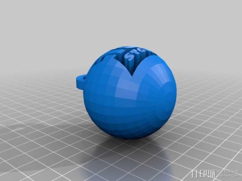小球 装饰品 3D模型  图1
