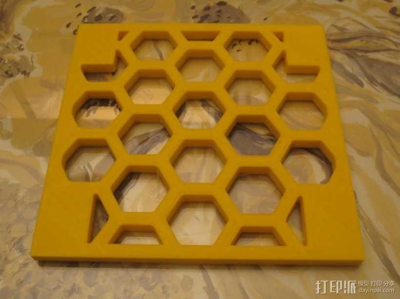 模块化的蜂巢面板 3D模型  图1