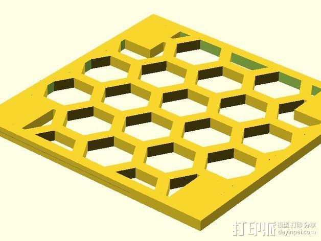 模块化的蜂巢面板 3D模型  图3