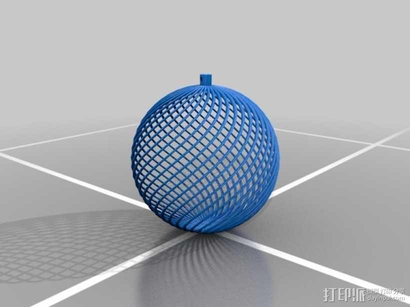镂空小球 装饰品 3D模型  图1