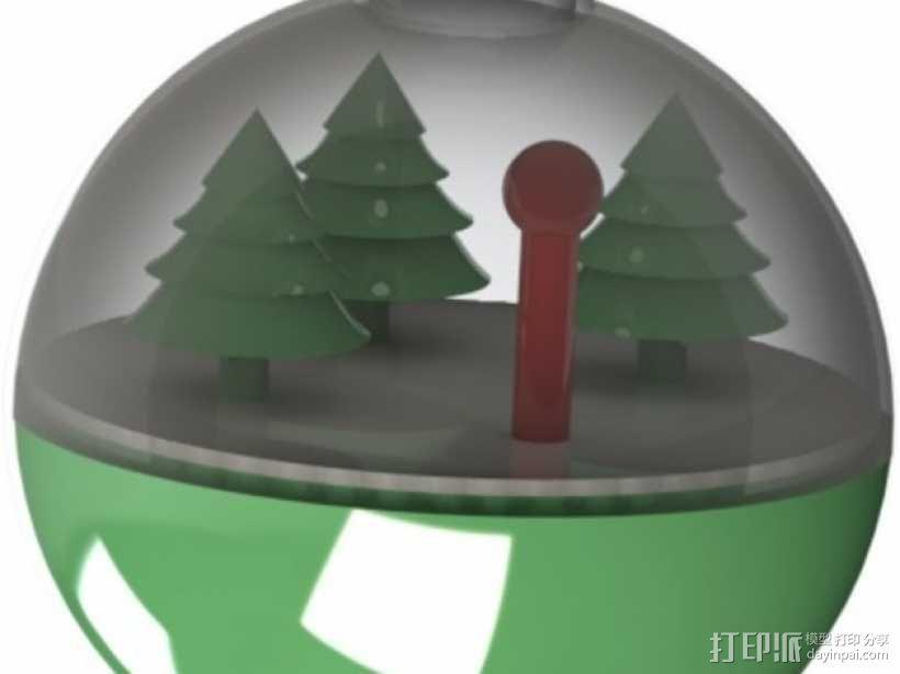 雪景球/雪花玻璃球 装饰品 3D模型  图1