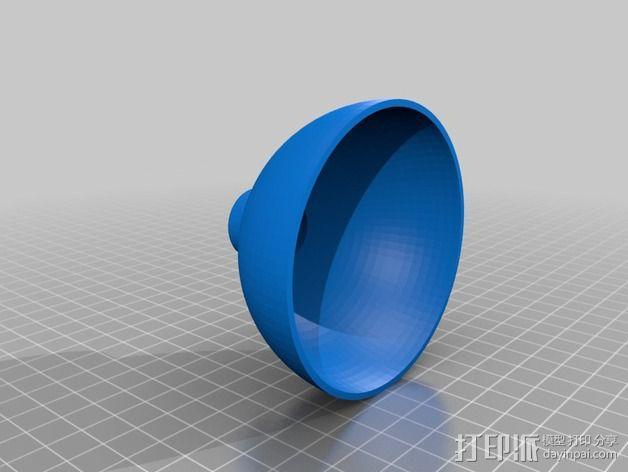 雪景球/雪花玻璃球 装饰品 3D模型  图2