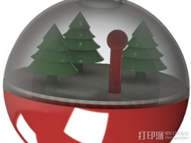 雪景球/雪花玻璃球 装饰品 3D模型  图4