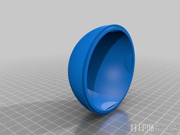 雪景球/雪花玻璃球 装饰品 3D模型  图8