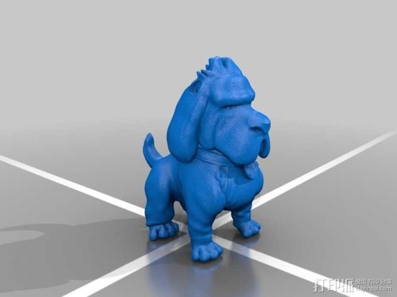 鹿角 狗 装饰品 3D模型  图5