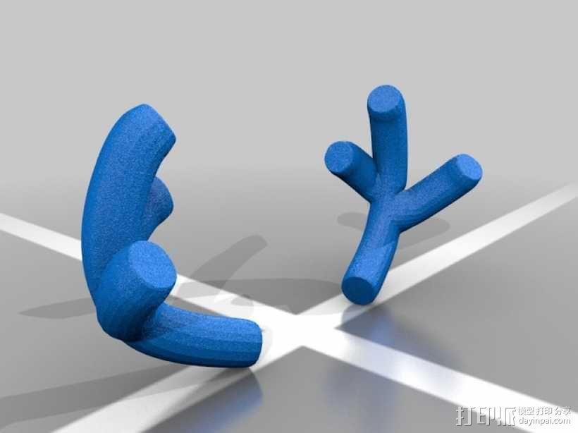 鹿角 狗 装饰品 3D模型  图6