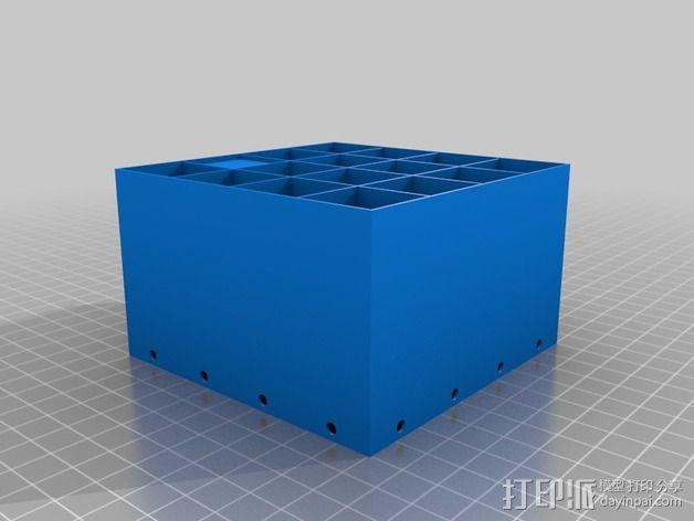 蜂巢形声音扩散器 3D模型  图2
