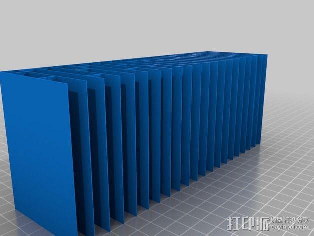 蜂巢形声音扩散器 3D模型  图3