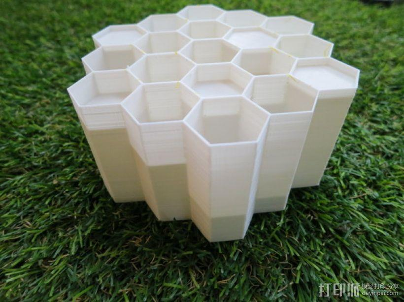 蜂巢形声音扩散器 3D模型  图1