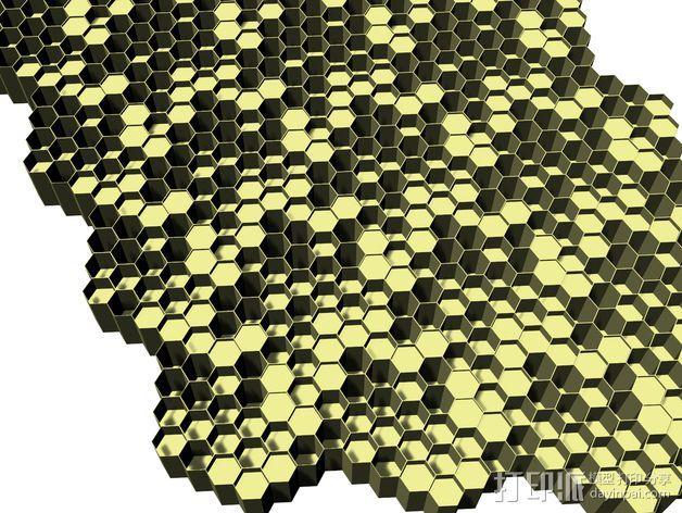 蜂巢形声音扩散器 3D模型  图6
