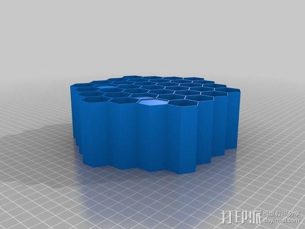 蜂巢形声音扩散器 3D模型  图4