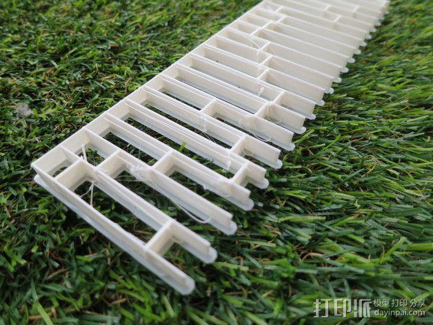 蜂巢形声音扩散器 3D模型  图8