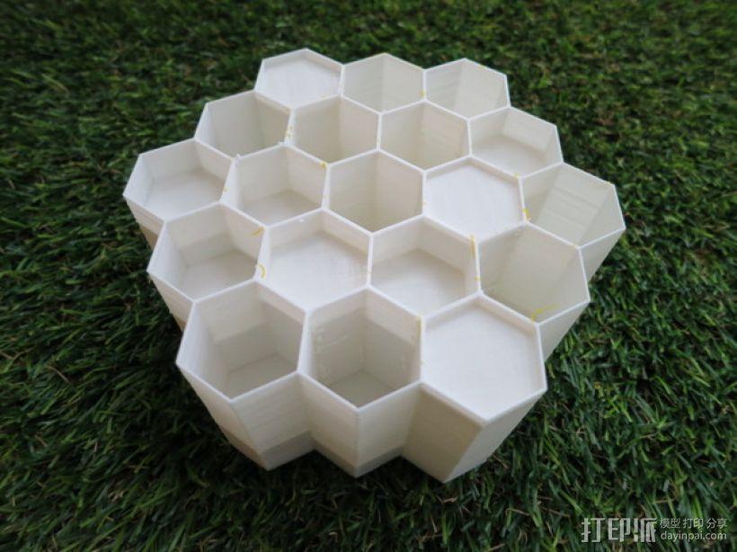 蜂巢形声音扩散器 3D模型  图10