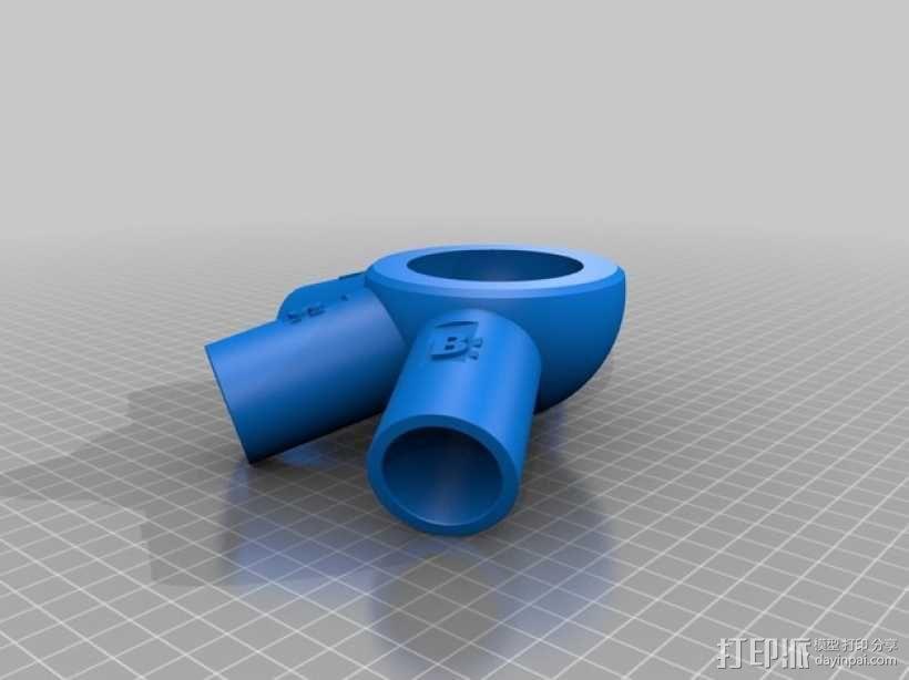 管道连接器 3D模型  图1
