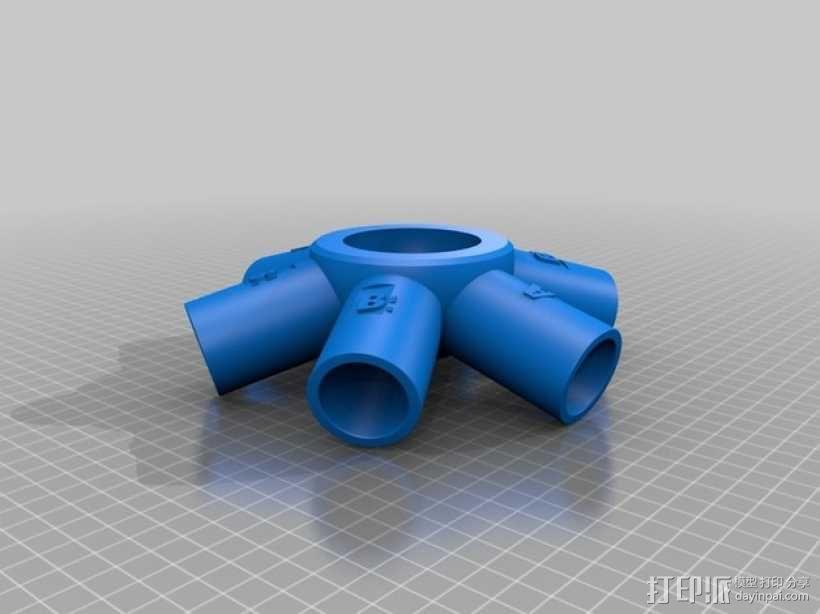 管道连接器 3D模型  图2