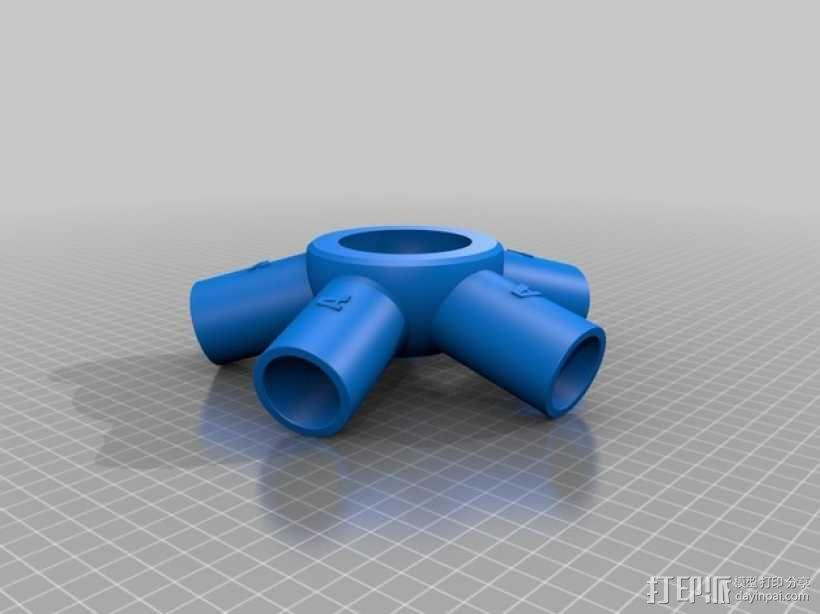 管道连接器 3D模型  图3