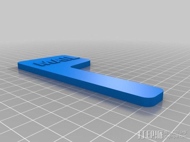 磁力邮筒小旗 3D模型  图1