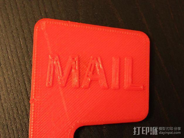 磁力邮筒小旗 3D模型  图2