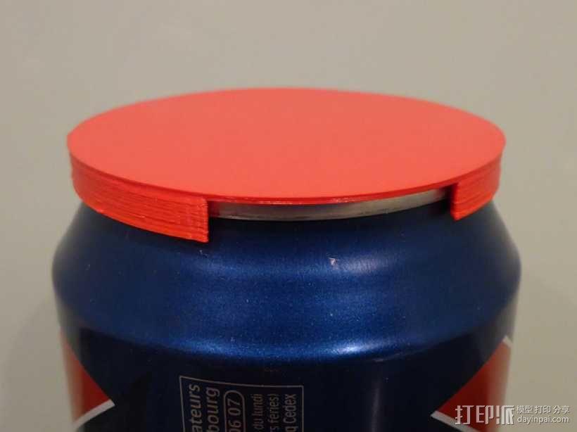 汽水/啤酒易拉罐盖子  3D模型  图1