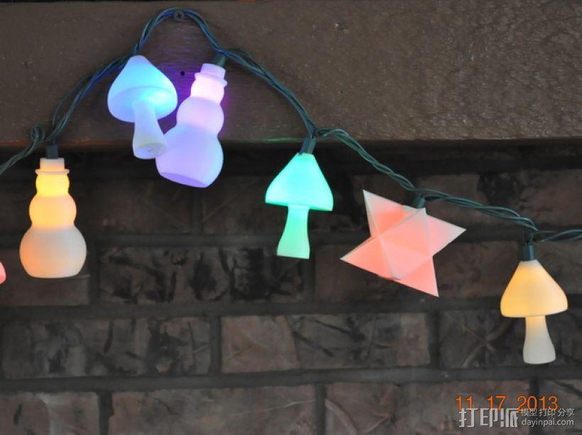 圣诞彩灯 灯罩 3D模型  图1