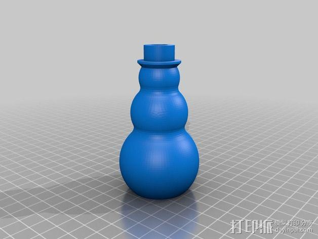 圣诞彩灯 灯罩 3D模型  图2