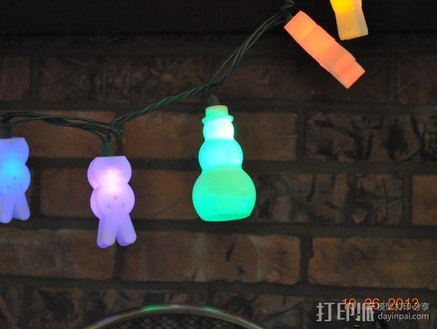 圣诞彩灯 灯罩 3D模型  图8