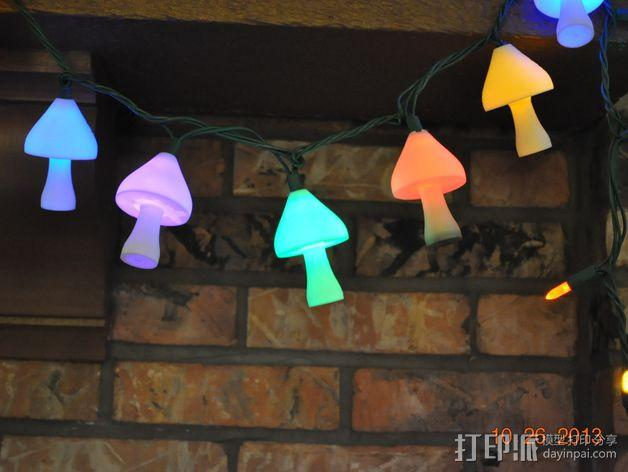 圣诞彩灯 灯罩 3D模型  图7
