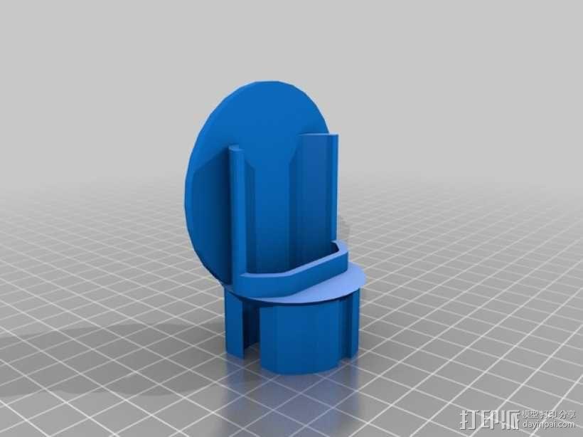 电动牙刷底座 3D模型  图2