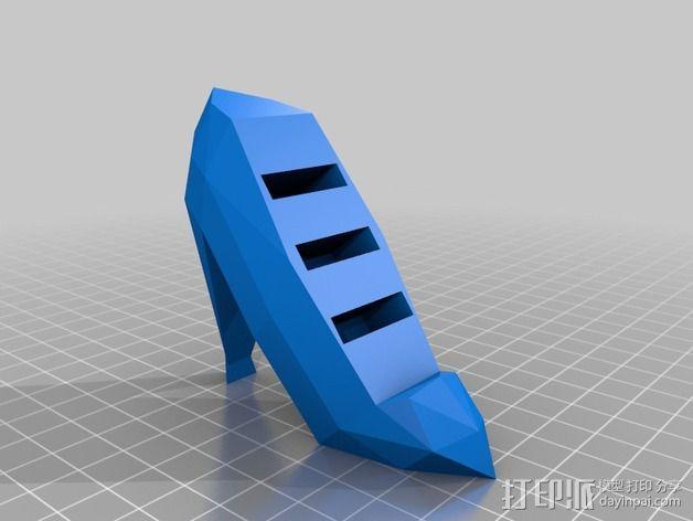 高跟鞋形戒指架 3D模型  图3